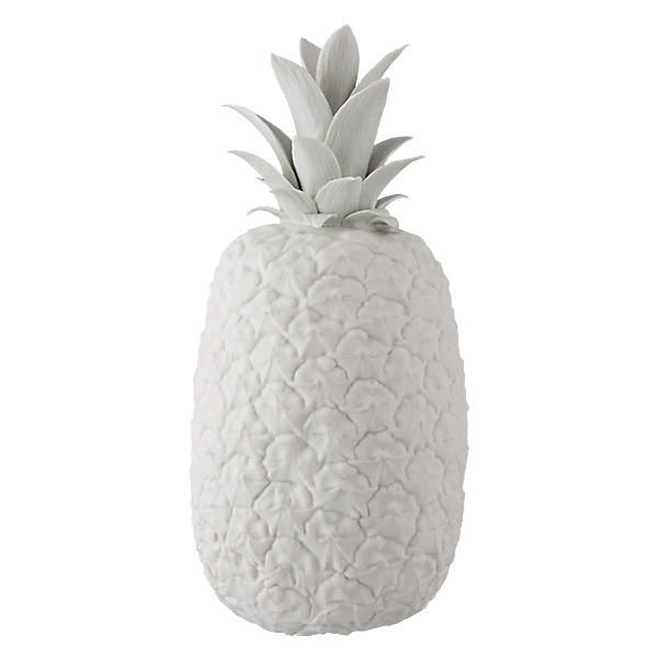 A porcelain pineapple created by Igor and Yelena Klimenkoff at Far4 in Seattle.