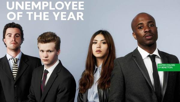 "United Colors of Benetton launches its ""Unemployee of the Year"" contest."