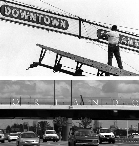 The neon sign that welcomed people to downtown Orlando hung at the intersection of Colonial Drive and Orange Avenue. 