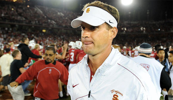 USC Coach Lane Kiffin suspended a beat writer for reporting that a Trojans kicker had undergone surgery. The coach later apologized.