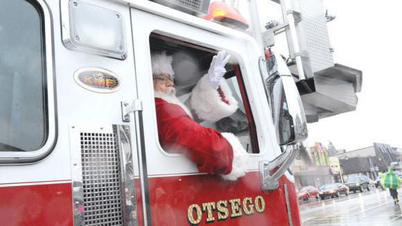 Santa Claus rode in style in an Otsego County fire truck at last year's parade in his honor in downtown Gaylord.