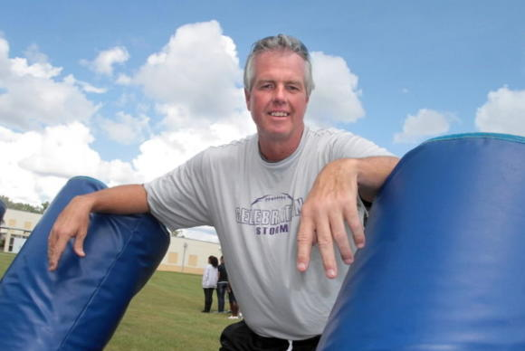Former college head coach Ed Meierkort faces a tough challenge trying to turn around Celebration's football program. In Meierkort's first season, the Storm (0-3) will face Kissimmee Osceola on Friday night. (George Skene, Orlando Sentinel)