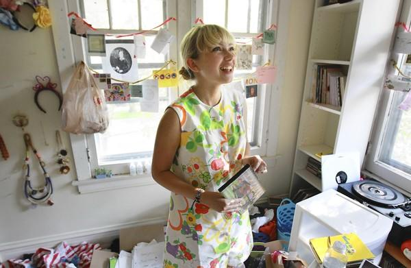 Tavi Gevinson, 16, at her home in Oak Park.