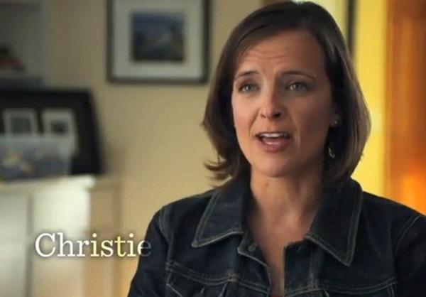 "A screen shot from the Obama campaign's new ad critiquing Mitt Romney as having a ""tough luck"" attitude toward the middle class."