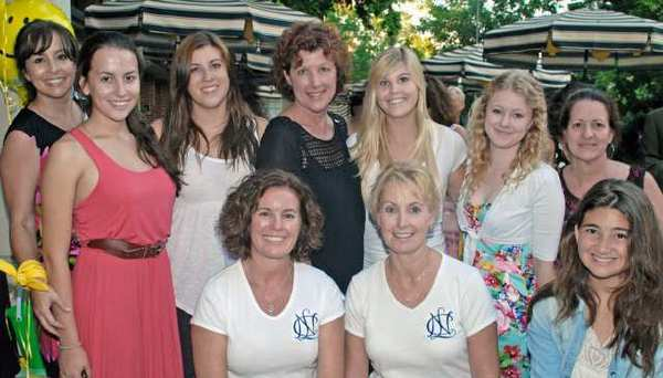 Helping make the KCDC fundraiser a success were National Charity League volunteers, from left, Carol and Sabrina Fielder, Samantha and Laurie Harmon, Mona Moore, Yvonne and Sarah Noll, Barbara Moore and Bobbi and Christy Hoffman.