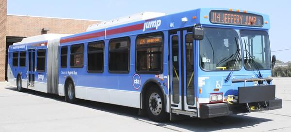 No. 14 buses wrapped in a blue color scheme with the CTA and Jump logos will operate between the intersection of 103rd Street and Stony Island Avenue and the Ogilvie Transportation Center and Union Station downtown, officials said.