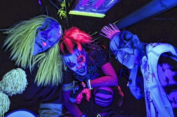 Gleeful ghouls greet visitors to Fright Dome at Circus Circus on the Las Vegas Strip
