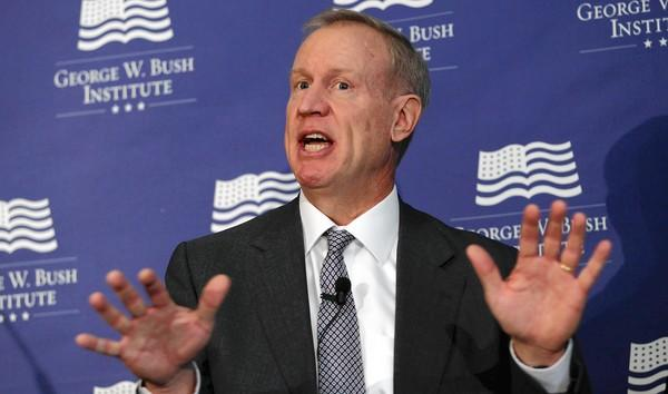 Businessman Bruce Rauner, a charter school backer and an adviser to Mayor Rahm Emanuel, was a panelist Tuesday at the George W. Bush Institute forum at the Art Institute of Chicago.