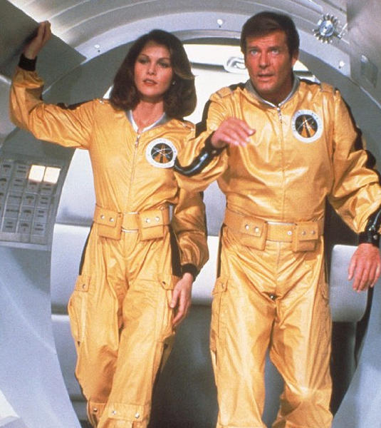 "<b>Launch date:</b> 1979 <br><br> <b>Pilot:</b> James Bond (portrayed by Roger Moore) gets to fly one of the seven space shuttles shown in the film. <br><br> <b>Shuttle mission:</b> Villain Hugo Drax develops a toxin that will destroy all human life on Earth. He launches six shuttles to transport dozens of genetically perfect specimens to his secret space station, where they are to wait until it's safe to go back to Earth and breed a ""new master race."" The U.S. launches its own shuttle to intervene. <br><br> <b>Outcome:</b> After a laser-gun-filled space battle, Bond defeats Drax, pushing him out an airlock. The charismatic agent escapes the disintegrating space station with attractive astronaut Holly Goodhead. The pair head back to Earth, enjoying weightless diversions and double entendres on their way."