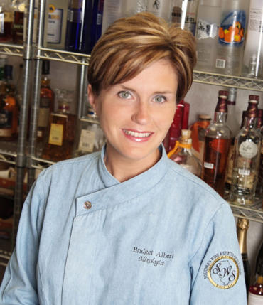 "Bridget Albert developed her techniques and talent tending bar at great establishments most notably the $1.6 billion Las Vegas resort, the Bellagio.  She studied under Master Mixologist Tony Abou-Ganim and completed his cocktail and spirit program.  Bridget is  the author of ""Market Fresh Mixology.""<br> <br>"