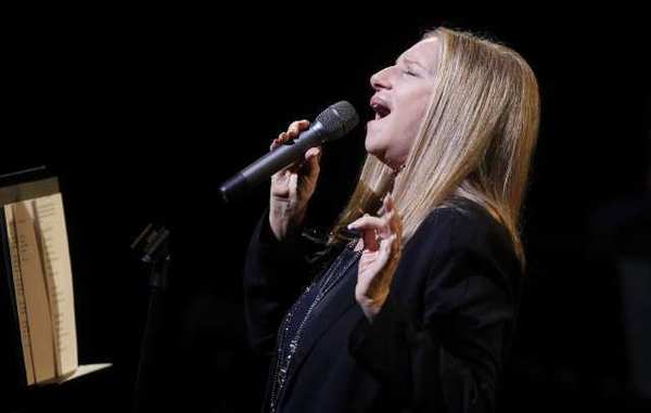Barbra Streisand performed Tuesday evening at a tribute to the late Marvin Hamlisch at Lincoln Center in New York.