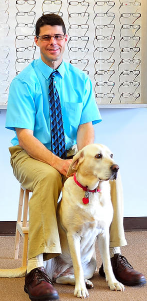 Dr. Richard C. Rebuck opened Rebuck & Associates Eye Care, PLLC, at 805 N. Mildred St., Suite 3, in Ranson, W.Va., in September 2011. He is shown with his dog, Blondie.
