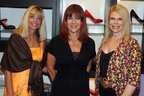 "Gilda's Club South Florida members Kathrym Helme, left, Paula Pianta and Gail Kaufman Weinbrum promote ""Strut for Gilda's,"" which will take place on Sept. 28 at Bloomingdale's Boca Raton. Proceeds from the event will support Gilda's Club South Florida's programs for men, women and children affected by cancer."
