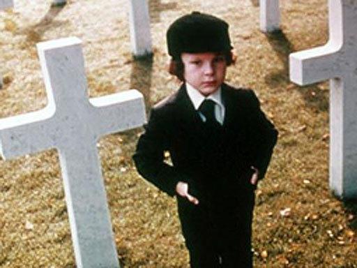 "Nothing like finding out your darling Damien is the Antichrist. Stephen Hayes played the son, and Gregory Peck and Lee Remick were his horrified parents in 1976's ""The Omen."""