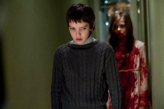 """Let Me In"" is the 2010 remake of ""Let the Right One In,"" and stars Kodi Smit-McPhee as the bullied boy and Chloe Grace Moretz as the child vampire, and it's a tossup as to who's creepier."