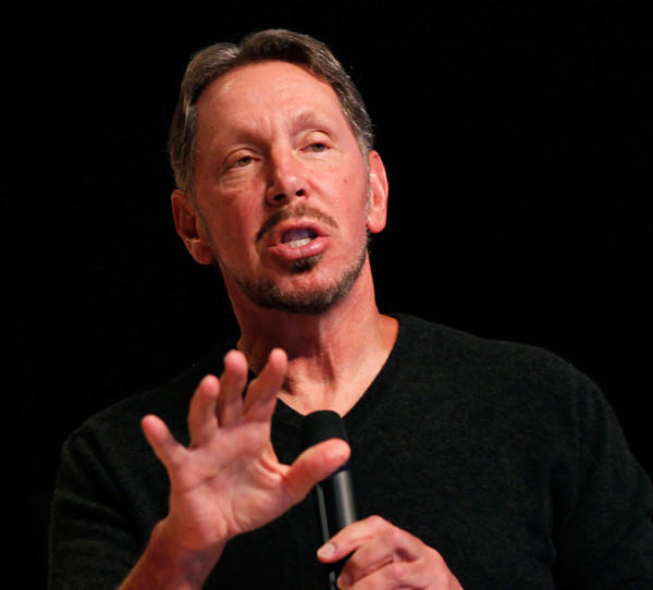 Oracle CEO Larry Ellison at the company's headquarters in Redwood City, Ca.