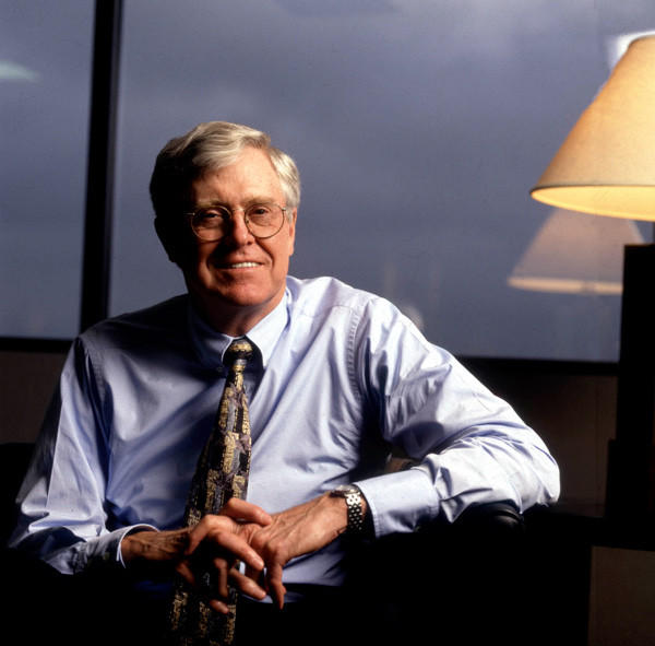 Charles Koch of Koch Industries poses for a portrait in Ks. on Nov. 10, 1998.