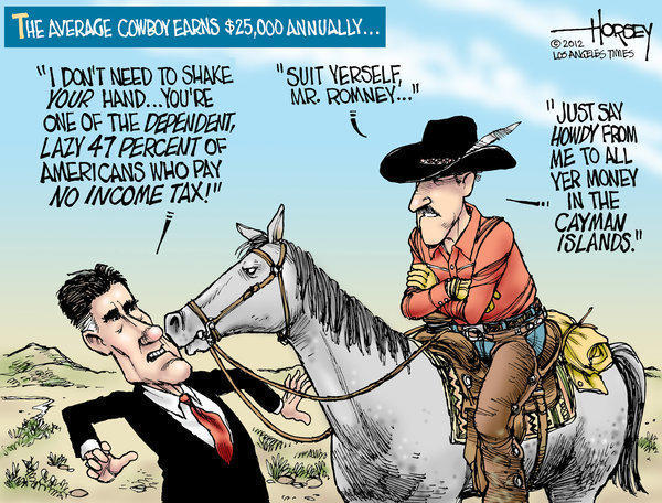 Watch out, Mitt Romney, cowboys pay no income tax