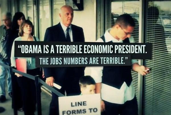 "A screen grab from the Republican Jewish Coalition's ad ""Michael,"" which focuses on President Obama's first term instead of Mitt Romney."