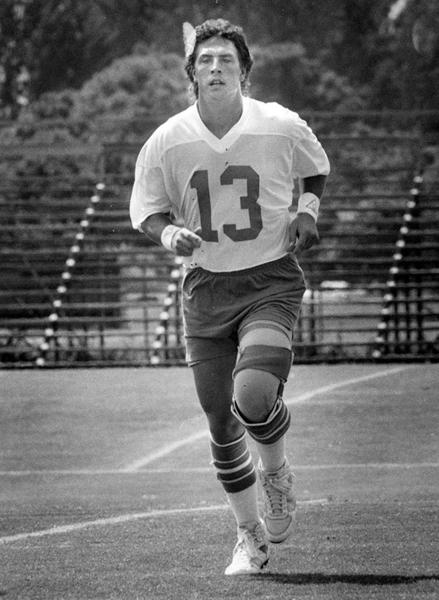 Dan Marino at Miami Dolphins practice at St. Thomas University in 1985.