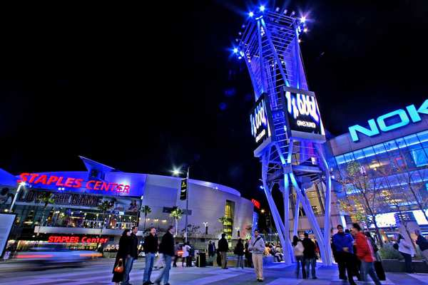 AEG developed L.A. Live and owns Staples Center and the Nokia Theatre.