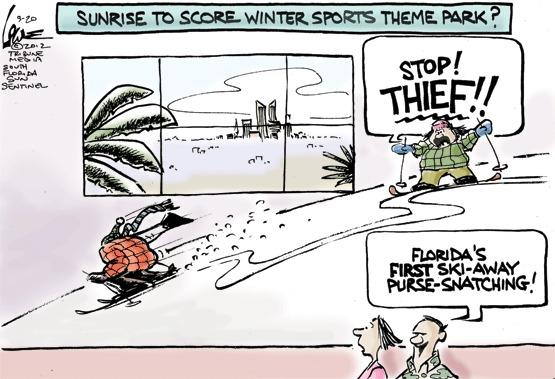 cartoon by Chan Lowe, South Florida Sun Sentinel