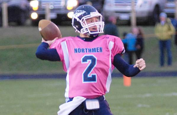 Quarterback Quinn Ameel tosses a pass during Petoskey's Play With Purpose game in 2011. The 2012 edition of the fundraising event is scheduled for Friday, Sept. 21, when the Northmen play host to Cheboygan at Curtis Field.