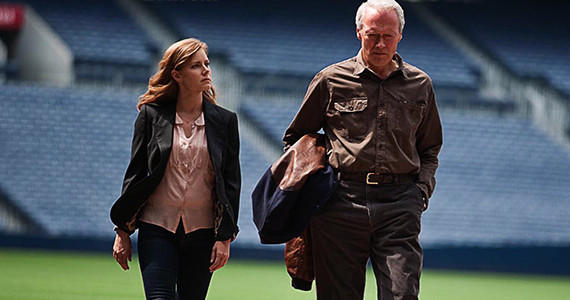 "Amy Adams and Clint Eastwood star in ""Trouble With the Curve."""