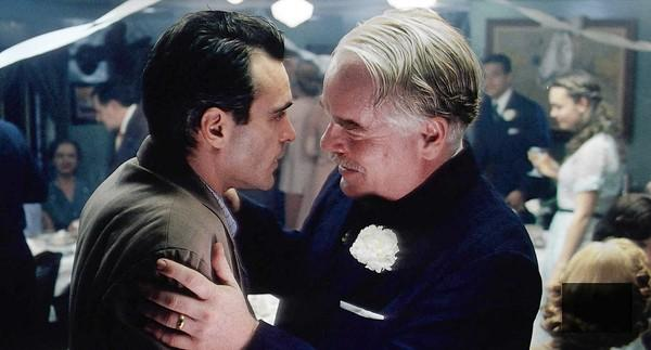 "Joaquin Phoenix and Philip Seymour Hoffman star in ""The Master."""