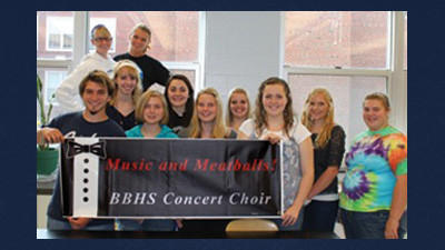 "Berlin's concert choir is featuring a ""Music & Meatballs"" event Friday. From left, front row are: Isaac Goss, Gina Clites, Khalen Clark, Kelsey Snyder. Second row: Lara Will, Emily Philip, Amanda Leister, Kristin Paul, Brianna Leydig. Back row: Brooke Little and Brieona Broadwater."