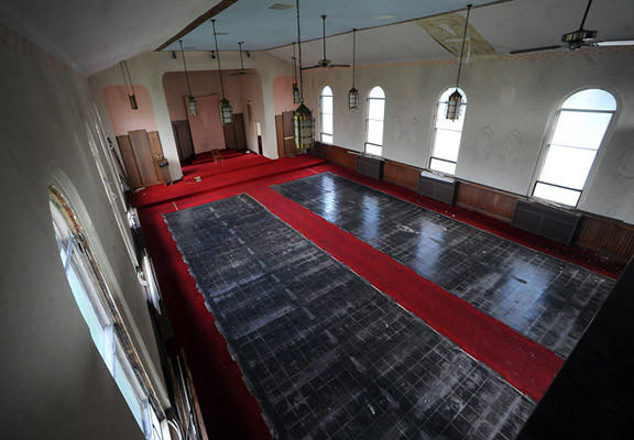 Inside the former St. Stanislaus Catholic Church in South Bethlehem were representatives of the Housing Development Corporation MidAtlantic, talks about the South Side Lofts, a 46-unit affordable housing complex at the former St. Stanislaus Catholic Church in South Bethlehem Wednesday afternoon.
