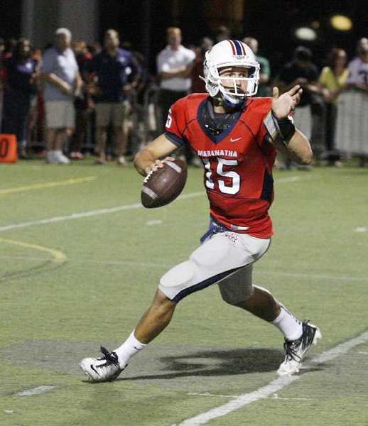 Maranatha quarterback Andrew Elffers' senior season is over after he tore the meniscus in his right knee.