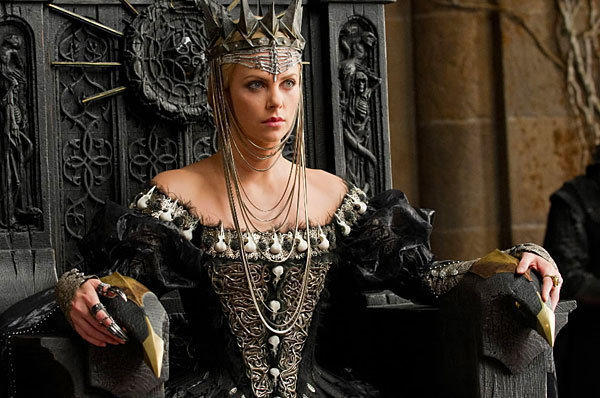 "From: The movie ""Snow White and the Huntsmen""<br> <br> Famous for: A real emphasis on that evil part. In this 2012 remake, The Evil Queen not only tries to off poor Snow White, but this sorceress actually eats birds - raw! We say Yikes."