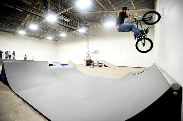 Ken Hensell, 24, of Martinsburg, W.Va., rides his BMX bike at the Berkeley County BMX/Skatepark in Martinsburg in this Dec. 2, 2009 file photo.