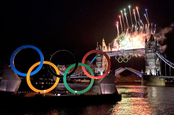 Photo taken with a Nikon D7000 during the opening ceremony of the 2012 Summer Olympics.