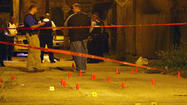 A man in his 20s died in a gun battle with several others in an alley in the Park Manor neighborhood on the South Side, police said.