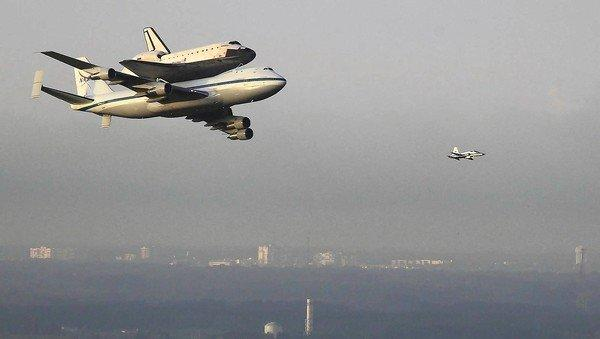 The space shuttle Endeavour's journey to Los Angeles atop a Boeing 747 includes flyovers of several NASA sites in the South, pit stops in Texas and at Edwards Air Force Base, and more sightseeing across the Golden State.