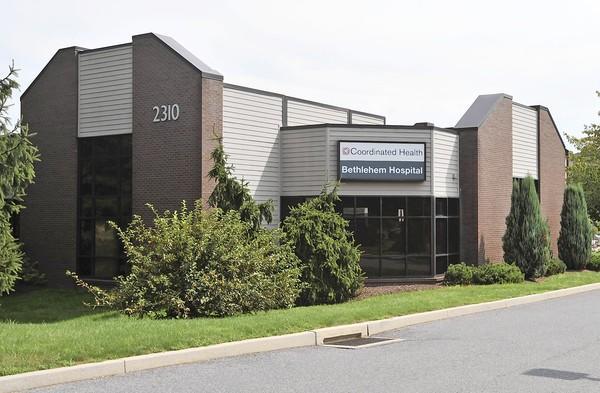 Exterior of Coordinated Health's Bethlehem Hospital located at 2300-2310 Highland Ave., Bethlehem on Thursday.