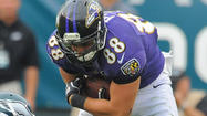 Dennis Pitta now first on the depth chart at tight end
