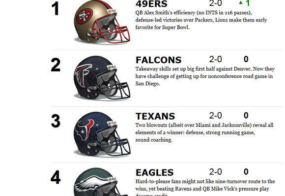 The Times' NFL power rankings