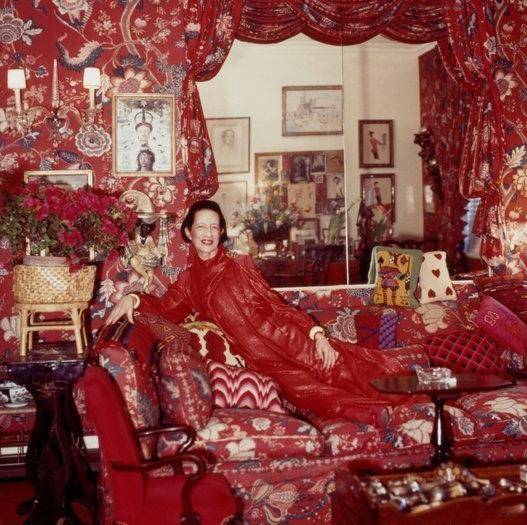 Diana Vreeland's red room