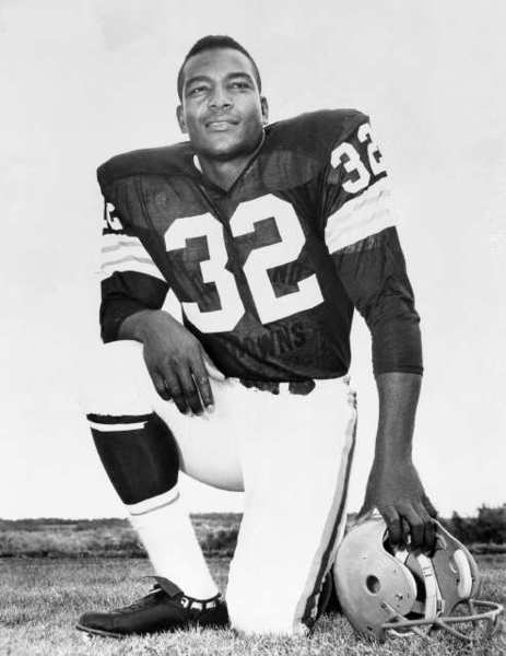 A file photo of Cleveland Browns running back Jim Brown during his playing days.