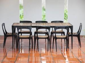 "From Clima Outdoor Collections in the Miami Design District: ""Flow"" by Henry Hall Designs line."
