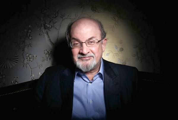 Author Salman Rushdie at the London Hotel in West Hollywood.