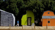 Mini modern cabins made from hardware store sheds