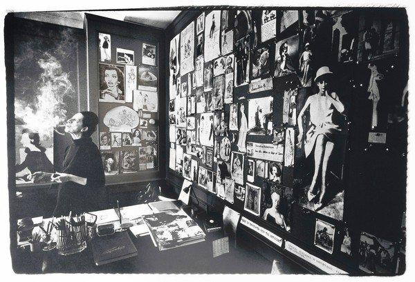 Diana Vreeland in her Vogue Office