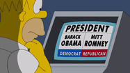 "Fox and ""The Simpsons"" are doing their part to get the vote out. Well, maybe."