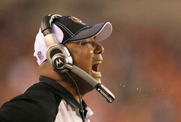 Bengals coaching: Now with 54 percent more spit. Or maybe that's dust? We're going with spit.