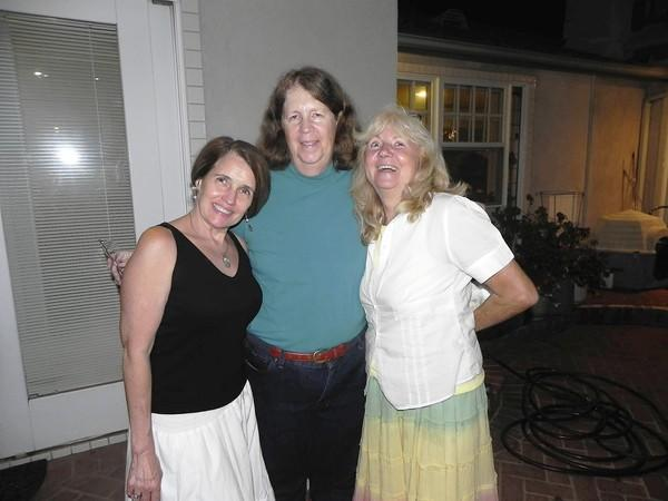 Katrina Dicterow, Cheryl Kinsman and Sande St. John pose for a photo at the Kinsman's Friday night soup gathering.