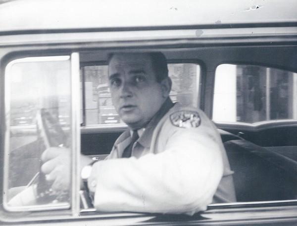 A young Ted Moyer on duty as a Maryland State Police trooper in the 1950s. The former Harford County sheriff died Sept. 17 at age 83.